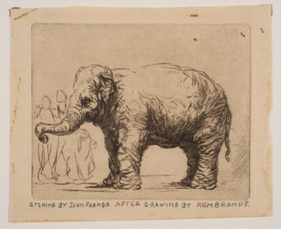 After a Drawing by Rembrandt; work on paper/print