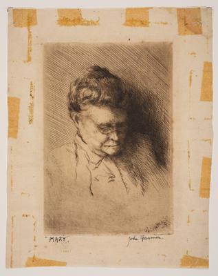 Mary (Mrs Farmer); work on paper/print