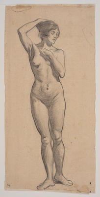 Untitled (Figure Study); work on paper/drawing