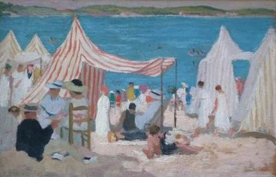 (French Beach Scene)