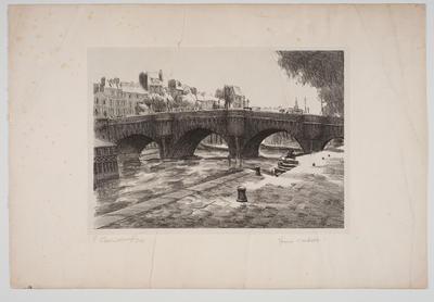 The Pont Neuf, Paris; work on paper