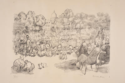 In the Luxembourge Gardens; work on paper