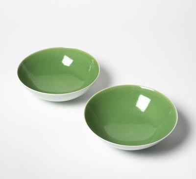 Pair porcelain bowls