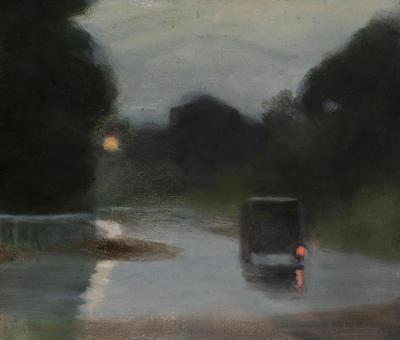Wet Evening; painting