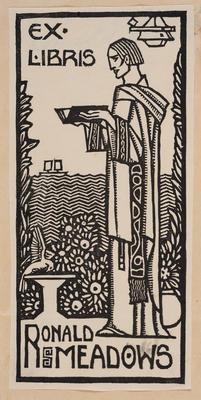 Ex Libris Ronald Meadows; work on paper