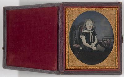 No Title (Studio portrait of young girl, Daguerreotype)