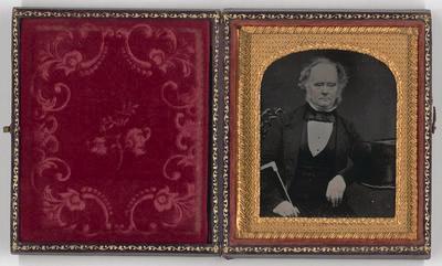 No Title (Studio portrait of gentleman, Daguerreotype Case)