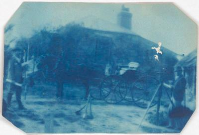 No Title (Men with horse drawn cart)