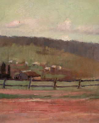(Landscape with fence)