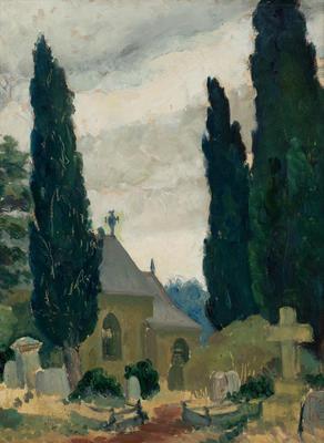 Graveyard; painting