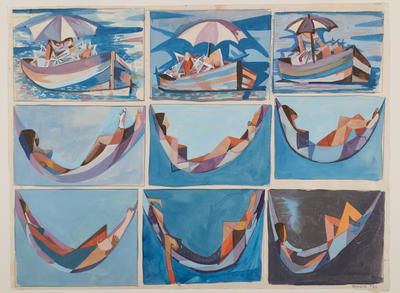 Boat and hammock sequence