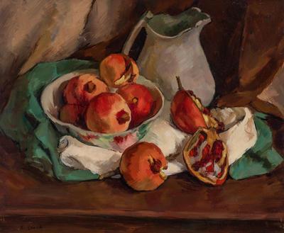 Still life - Pomegranates and Jug