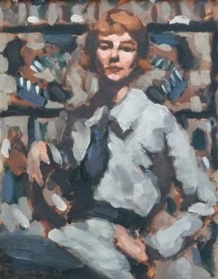 (Portrait Study of Sybil Craig in her Studio)